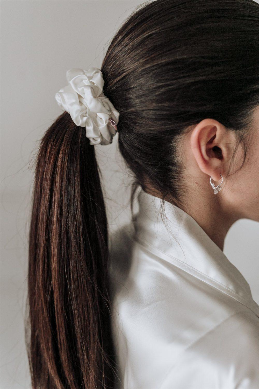 StarSilk svilene gumice za kosu twinkling white