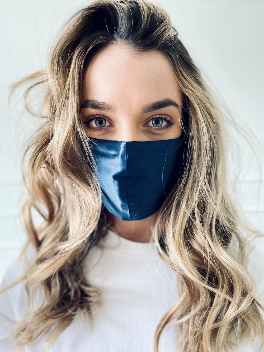 starsilk svilene maske za lice midnight blue
